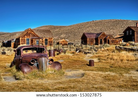 Bodie, ghost town 02 Royalty-Free Stock Photo #153027875