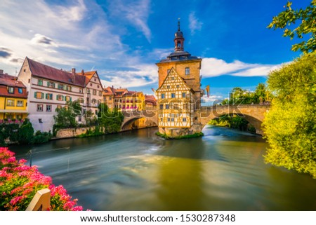 Old town of traditional architecture of Bamberg, Bavaria, Germany #1530287348