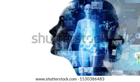 Medical technology concept. Remote medicine. Electronic medical record. #1530386483