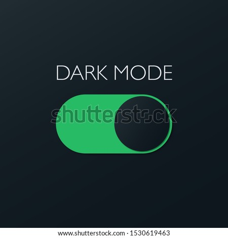 Vector On and Off Switch. Dark and Light Mode Switcher for Phone Screens, tablets and computers. Toggle Element for Mobile App, Web Design, Animation. Light and Dark Buttons. Royalty-Free Stock Photo #1530619463