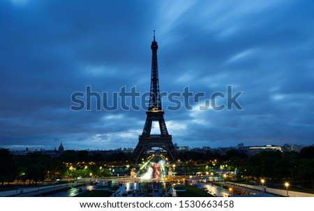 Eiffel Tower and Paris from Trocadéro Royalty-Free Stock Photo #1530663458