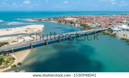 "Fortaleza, Brazil. ""José Martins Rodrigues"" Bridge, under the Ceará River in Fortaleza, Ceara / Brazil. #1530948041"