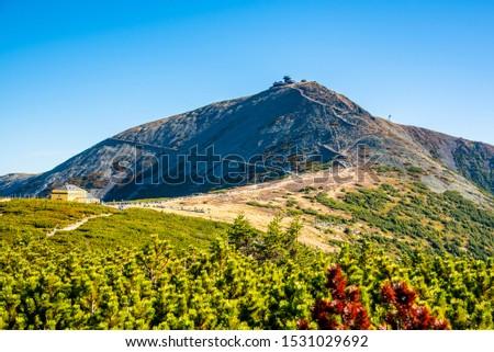 Snezka, or Sniezka - the highest mountain of Czech Republic, Giant Mountains - Krkonose National Park, Czech Republic and Poland. #1531029692
