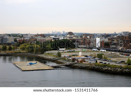 Vancouver, America - August 18, 2019: Vancouver view from port, Vancouver, America #1531411766