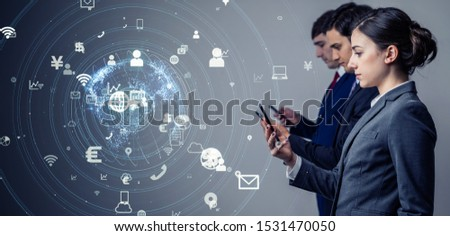 Mobile communication concept. Mobile app. IoT (Internet of Things). #1531470050
