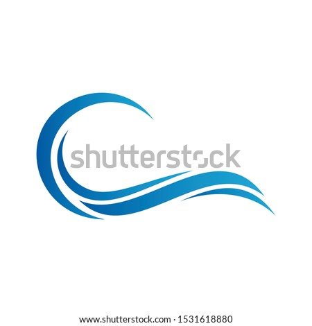Water wave symbol and icon logo design. Blue water wave inspiration logo template. #1531618880