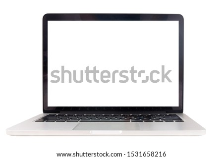 blank screen laptop on isolated white background with clipping path. #1531658216