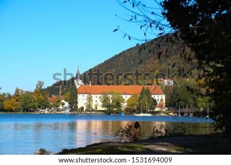 Bräustüberl am Tegernsee, castle, historic building, sunny day, blue sky #1531694009