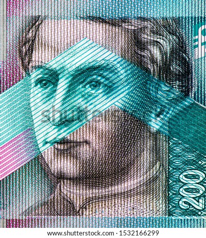 Anton Bernolak (1762-1813), an outstanding linguist and enlightened priest, Portrait from Slovakia 200 Korun 2000 Banknotes. An Old paper banknote, vintage retro. Famous ancient Banknotes. Collection. #1532166299