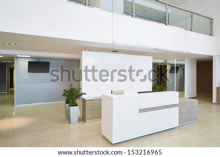 Empty reception hall in modern building
