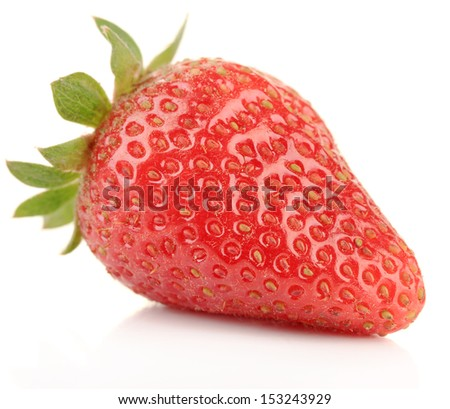 Ripe strawberries isolated on white #153243929