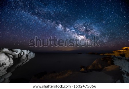 milky way in cabo de gata andalusia spain #1532475866