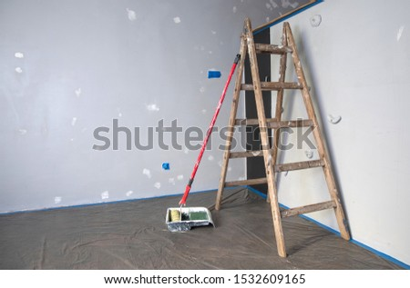 renovation of walls prepared for painting #1532609165