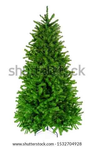 Beautiful christmas tree isolated on white background #1532704928
