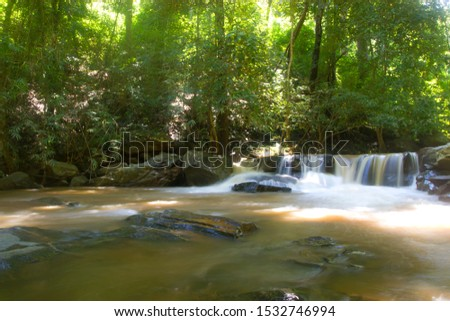 Natural waterfalls trees streams rocks streams tourist attractions Mae Sa waterfall Chiang Mai Thailand #1532746994