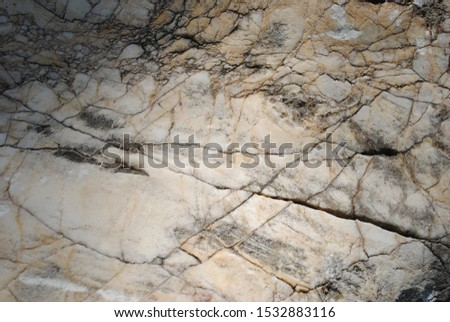 Cracked rock texture background . clouse up  #1532883116