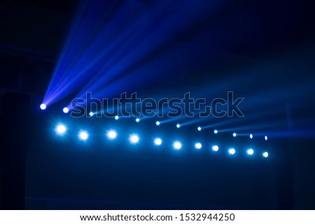 spotlights on a theatre stage #1532944250