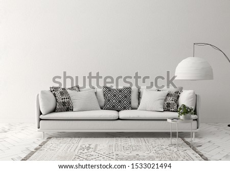 3d illustration sofa Indoor pictures where you can exhibit wall products #1533021494