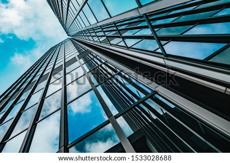 background of modern glass building skyscrapers #1533028688