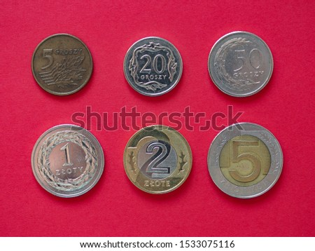 Series of Polish Zloty coins money (PLN), currency of Poland #1533075116