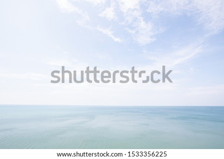 seascape , skyline on ocean . clear blue sky and clouds horizontal full hd picture 300 dpi resolution .