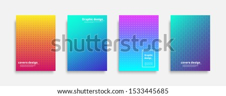 Minimal covers design. Colorful halftone gradients. Cool modern background design. Future geometric patterns. Eps10 vector. #1533445685