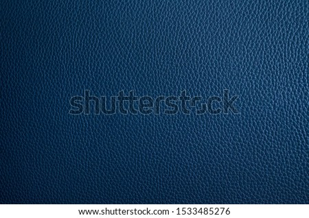 Leather texture. Blue fashionable background. Stylish wallpaper