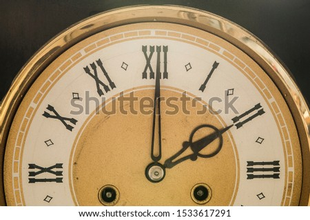 Wall clock with the Roman numbers #1533617291