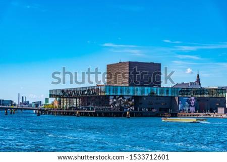 COPENHAGEN, DENMARK, MAY 5, 2019: View of the Skuespilhuset (Royal Danish Playhouse) in central Copenhagen, Denmark. #1533712601