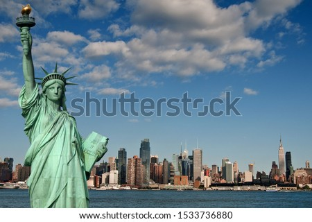 Beautiful view of the Statue of Liberty in New York #1533736880