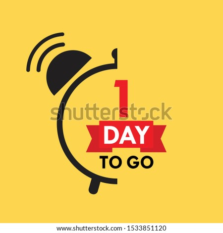 1 day to go last countdown icon. One day go sale price offer promo deal timer, 1 day only.  #1533851120