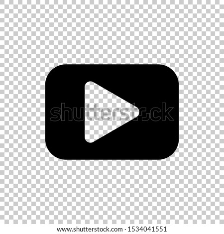 play video icon design vector flat  #1534041551