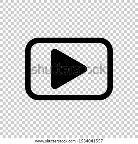 streaming video icon isolated on transparent background #1534041557