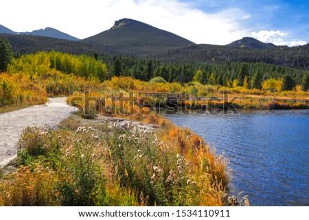 Scenic Lily lake landscape near Estes park in Colorado, USA #1534110911