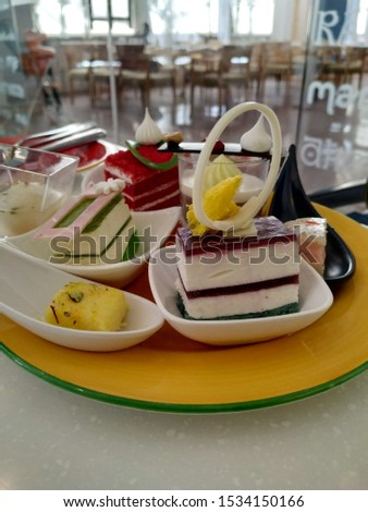 closeup pics of cakes and dessert item with blurry background