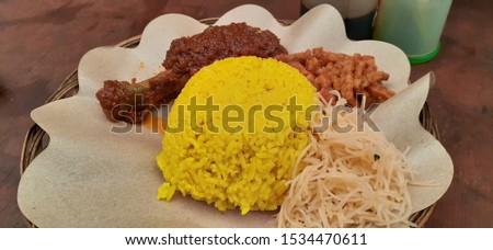 Tasty and tasty yellow rice #1534470611