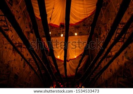 Kolkata, West Bengal , India - October 2018: Art of pandals in Kolkata Durga puja, A biggest festival in India #1534533473
