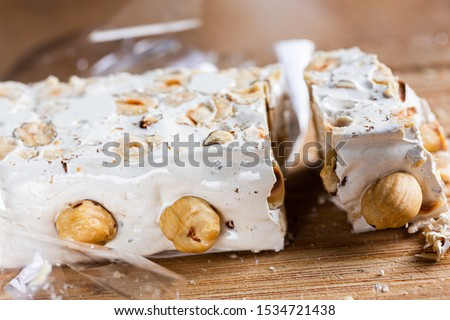 Hazelnut torrone or nougat from Sardinia #1534721438