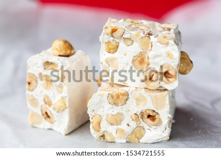 Hazelnut torrone or nougat from Sardinia #1534721555
