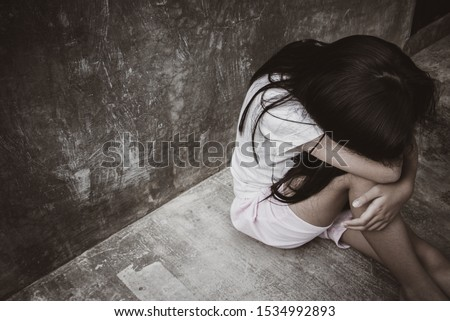 Human trafficking and slavery concept. Stop human abuse. Stop child abusing. Human is not a product #1534992893