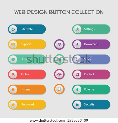 infographic label elements, menu bar, presentation template, web design. #1535053409