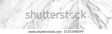 White marble  separating three pictures with high detail big size Can be used to design background graphics