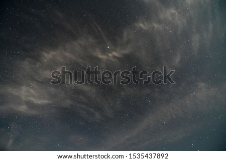 night sky with clouds, photo as a background , Beautiful digital image #1535437892