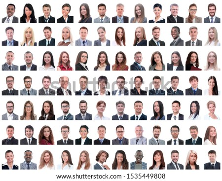 portraits of successful employees isolated on a white #1535449808