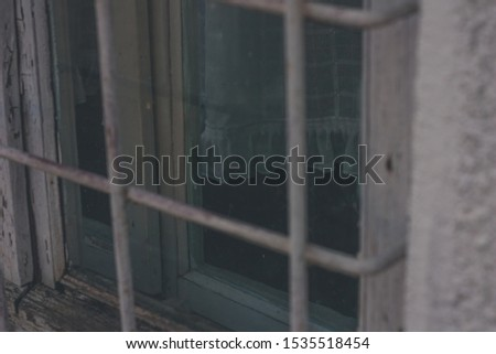 Old moody white window in detailed view #1535518454