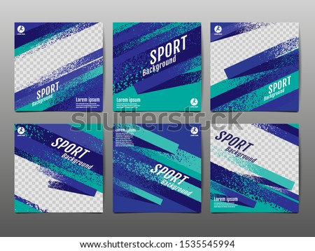 Sport Banner Social Media, Abstract Background, Vector Illustration, Dynamic, grunge Texture.