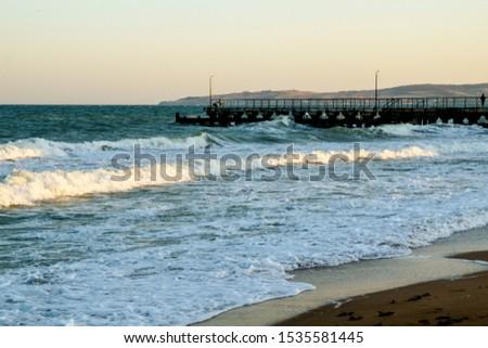 paradise coast waves on the sand of a sea beach #1535581445