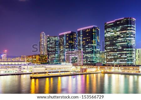Kowloon downtown at night #153566729