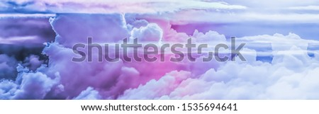 Magical dream, nature backdrop and spiritual holiday concept - Dreamy surreal sky as abstract art, fantasy pastel colours background for modern design
