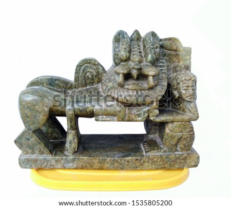 A nicely sculptured soft rock lion-idol resembling ancient Indian temple sculptures. #1535805200